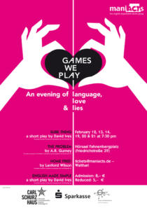 Plakat ManiActs «Games we play»