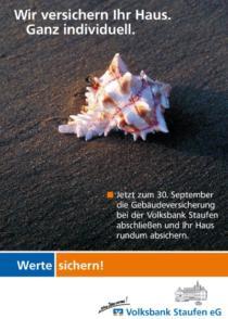 Plakat Volksbank Staufen «Gebäudeversicherung»
