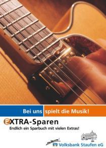 Plakat Volksbank Staufen «Extra sparen»