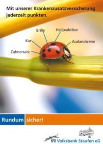 Plakat Volksbank Staufen «Krankenzusatzversicherung»