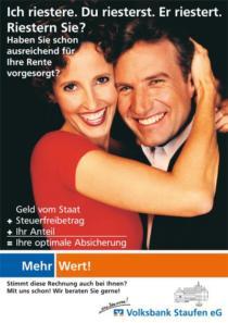 Plakat Volksbank Staufen «Rente»